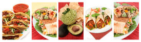stock photo of mexican food  - different images of various Mexican food dishes like burritos tacosnachosguacamole and fajitas - JPG