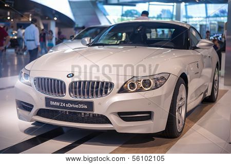 Munich, Germany- June 17, 2012: Bmw Z4 Sdrive 35Is Roadster Coupe Automobile On Stand In Bmw Museum