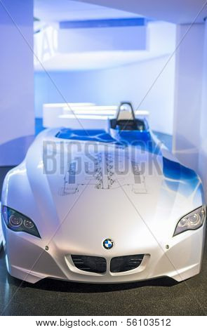 MUNICH, GERMANY - JUNE 17, 2012: Bmw H2R Hydrogen Powered Racing Concept Car On Stand In Bmw Museum