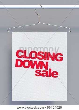 Wire Hanger With Sale Sign