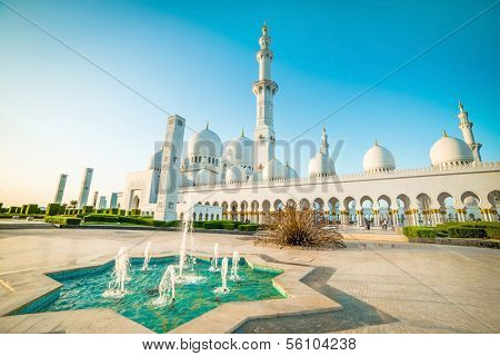 Sheikh Zayed Grand Mosque in Abu-Dhabi, UAE