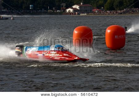 Boat Of Jonas Andersson, The Team Azerbaijan Driver From Sweden