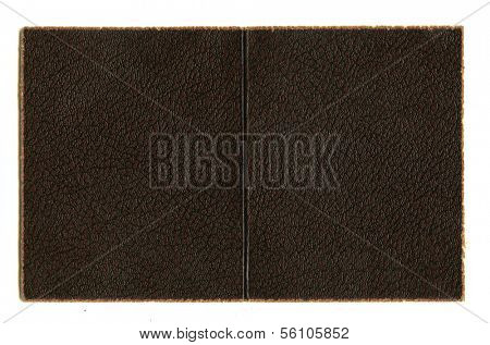 Faux Leather Background with Paper Fringed Edges