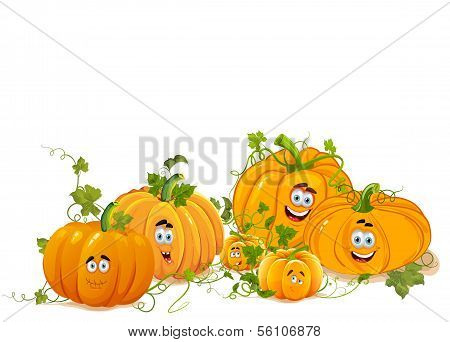 Portrait of Pumpkin Family