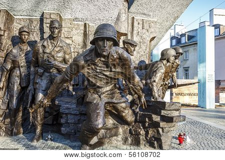 Monument To 1944 Warsaw Uprising, Unveiled In 1989