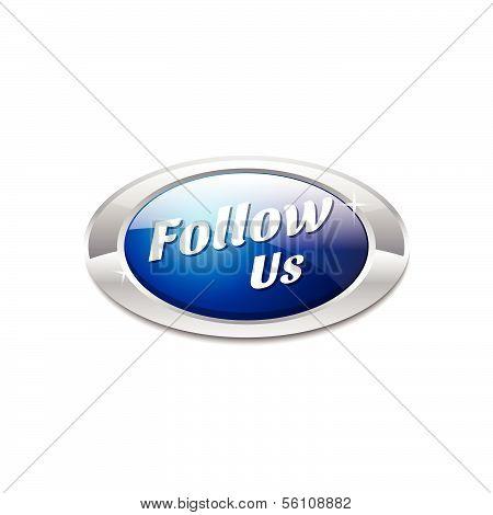 Follow Us Vector Button Icon
