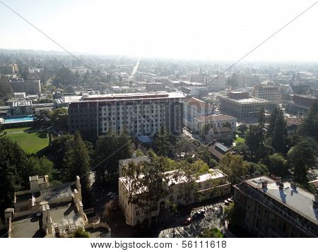 Birds Eye View Of Historic And Modern Buildings Of Uc Berkeley Campus
