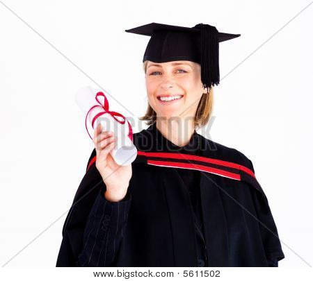 Girl Celebrating Success After Graduation