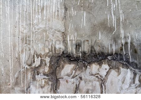 Gray And Brown Decaying Wall