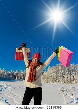 Near Snowy Trees Midwinter Joy