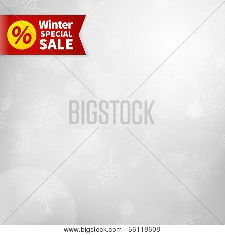 Winter Special Sale Background