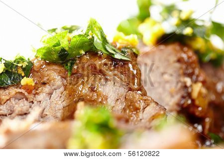 Slow Cooked Shin Beef With Orange Gremolata
