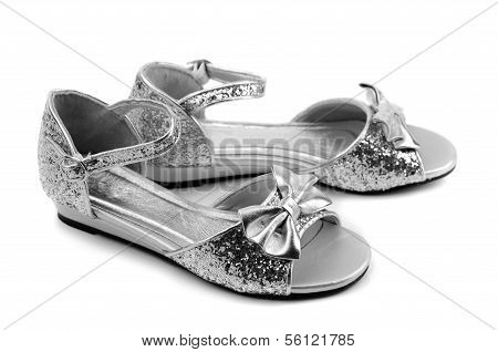 Dressy Sandals With Rhinestones For Girls