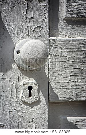 Antique White Doorknob