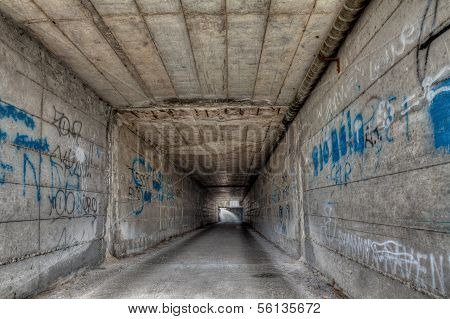 narrow underpass