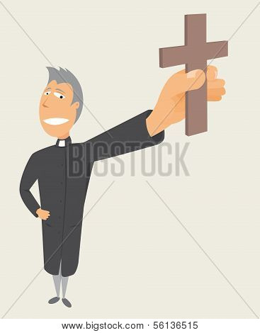 Priest Holding Cross or Holy Occupation