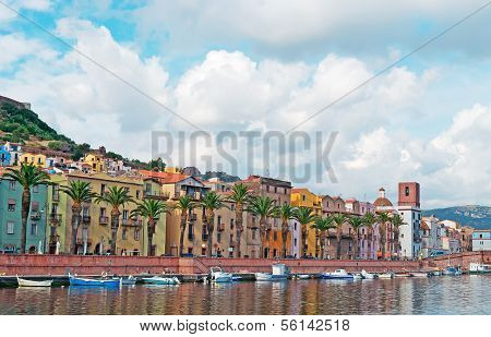 Bosa Riverfront With Boats