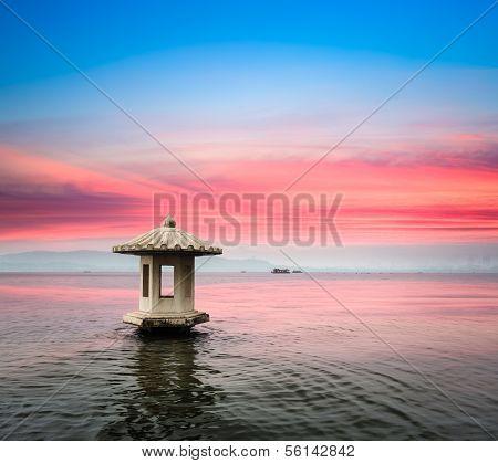 Hangzhou Landscape In Sunset