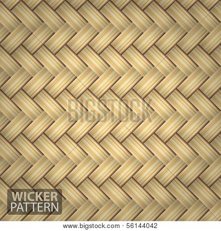 Brown Wicker Seamless Pattern Vector