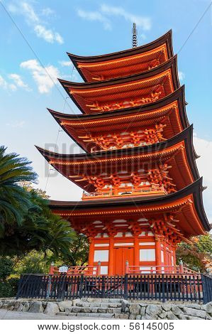 Five-storied pagoda at Toyokuni Shrine in Miyajima Island