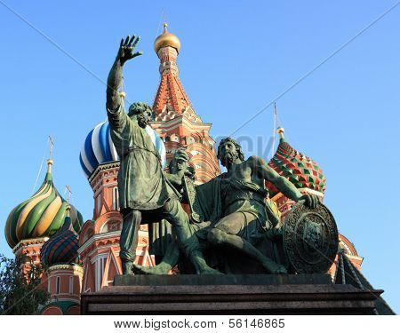 Blessed Basil Cathedral And Statue