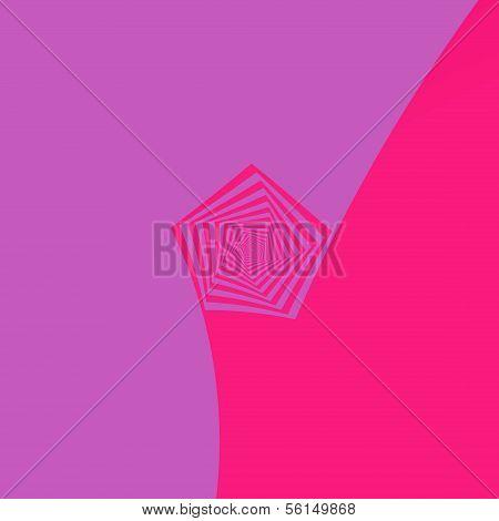 Spiral Pentagon In Pink Tones