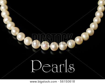 Necklace Of White Pearls