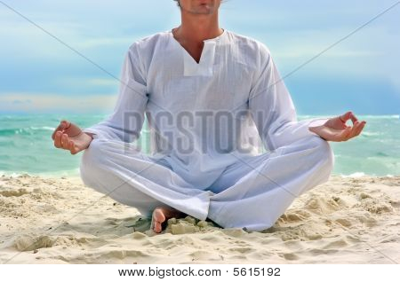 Yogi On The Beach
