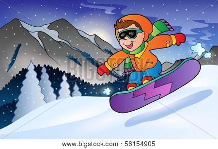Winter mountain sport theme 3 - eps10 vector illustration.