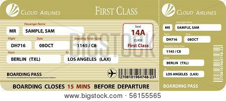 Boarding Pass First Class