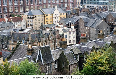 Architectural detail in Edinburgh, Scotland, Europe