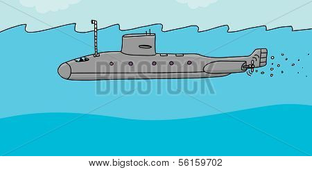 Submarine Cartoon