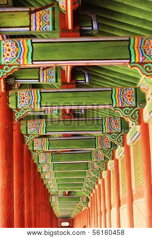 Colorful Decorative Wooden Eaves
