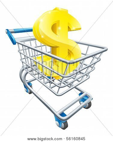 Dollar Money Trolley Concept