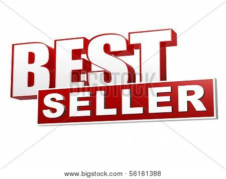 Best Seller Red White Banner - Letters And Block