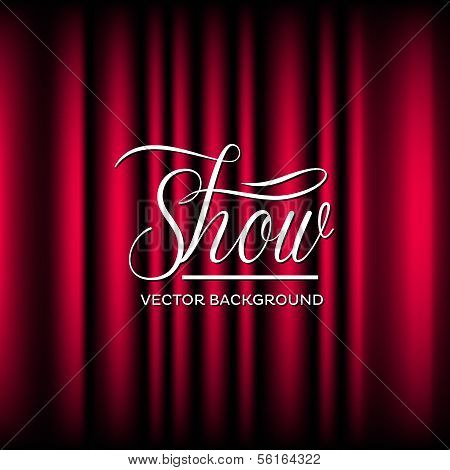 Theatre Show Vector Background