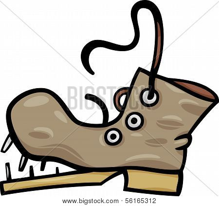 Old Shoe Or Boot Cartoon Clip Art