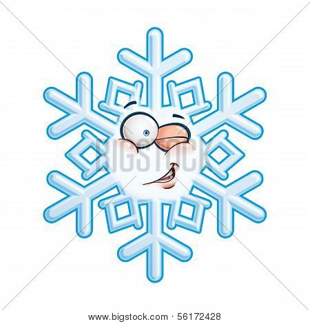 Snowflake Head - Winking