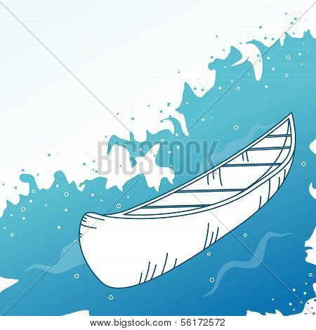 Background with boat.