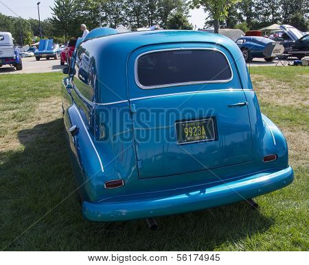 1952 Blue Chevy Delivery Sedan Rear View