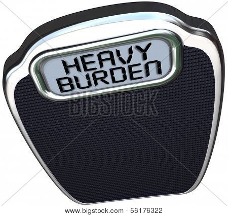 Heavy Burden Words