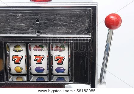 Slot Machine And Jackpot Three Seven