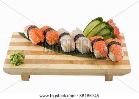 Sushi Nigiri Isolated On White Background