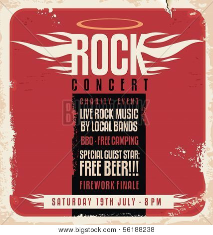 Rock Konzert retro poster