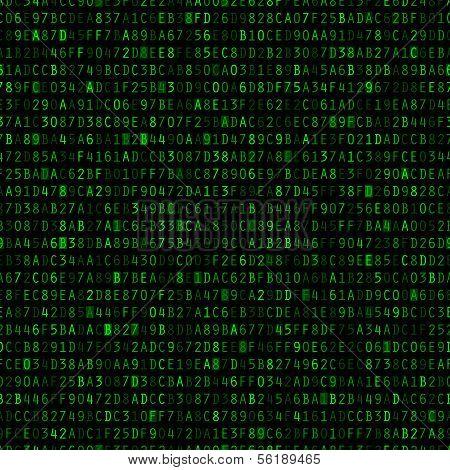 Repeating Hexadecimal Background