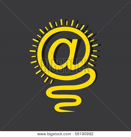 Email sign male a light-bulb