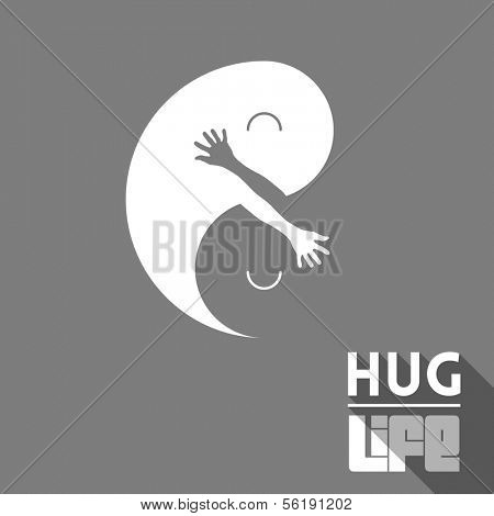 Vector illustration with positive message