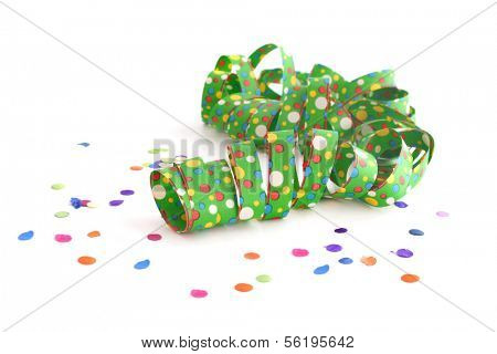 A decoration for a typical party atmosphere. All on white background.