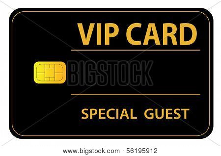 An illustrated VIP card for a special guest.