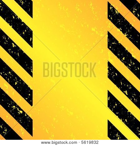 Grunge Hazard Stripes Vertical